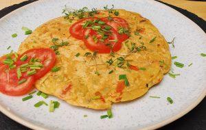 veganes Omelett aus Kichererbsenmehl