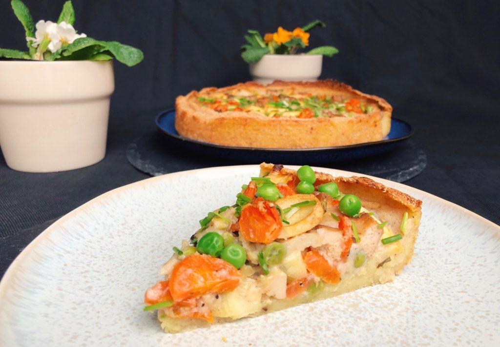 Leckere Quiche mit Kartoffelboden